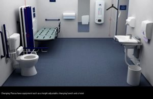 Large accessible toilets for severely disabled people – known as Changing Places – will be made compulsory for new buildings in England from 2021.