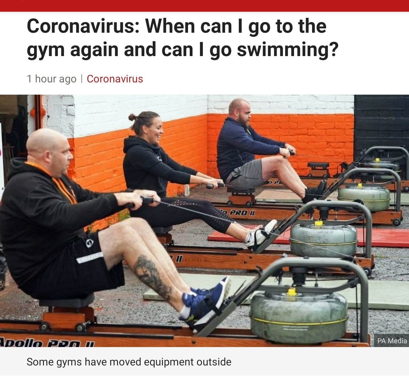 Coronavirus: When can I go to the gym again and can I go swimming?